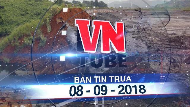 Bản tin VnTube trưa 08-09-2018: Vỡ đập hồ chứa, 45.000 m3 chất thải phân bón tràn vào nhà dân