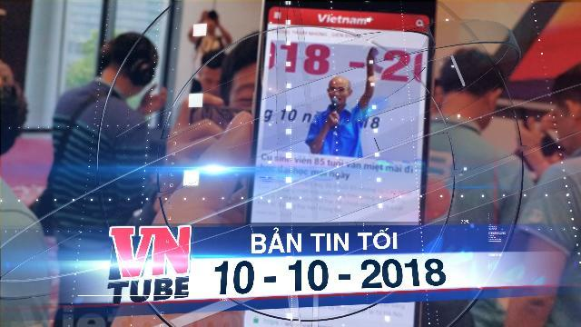 """Bản tin VnTube tối 10-10-2018: Bkav công bố smartphone không """"virus,' màn hình tràn đáy"""