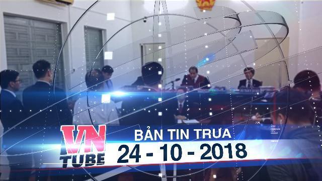 Bản tin VnTube trưa 24-10-2018: Viện kiểm sát đề nghị tuyên Grab bồi thường 41,2 tỉ cho Vinasun