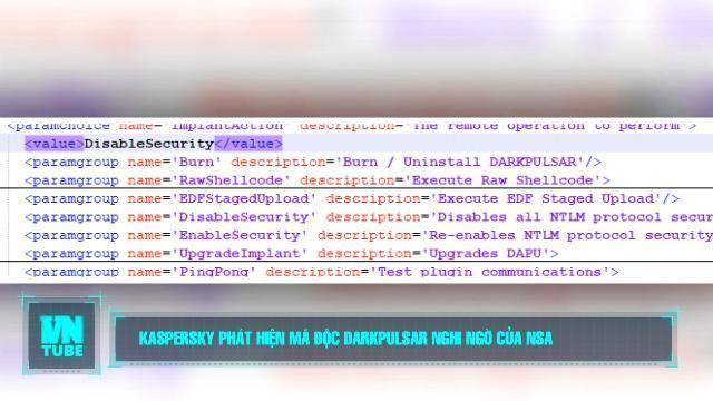 Toàn cảnh an ninh mạng số 4 tháng 10: Kaspersky phát hiện mã độc DarkPulsar nghi ngờ của NSA