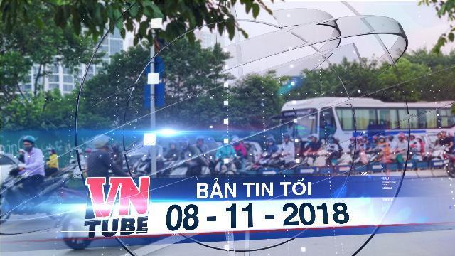 Bản tin VnTube tối 08-11-2018: Hà Nội: CSGT lập chốt ngăn dắt bộ xe máy trên vỉa hè