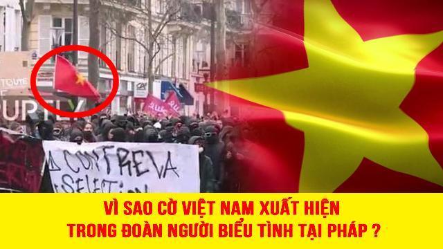 Vì sao cờ Việt Nam xuất hiện trong đoàn người biểu tình tại Pháp?