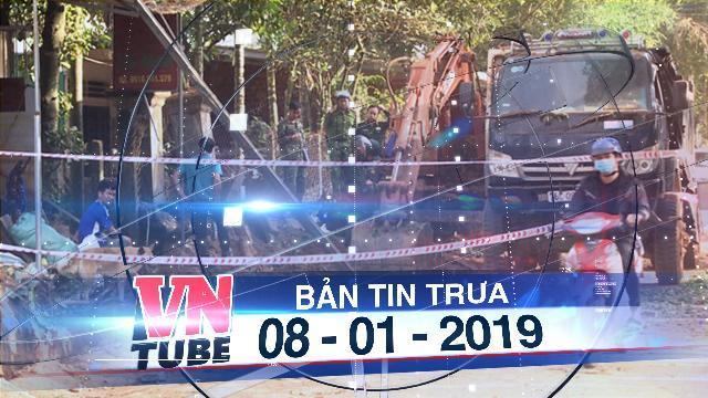 Bản tin VnTube trưa 08-01-2019: Xe xúc đào trúng mìn phát nổ, một người bị thương nặng
