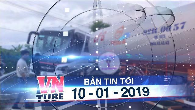 Bản tin VnTube tối 10-01-2019: Xe bồn tông xe du lịch trên đèo Hải Vân