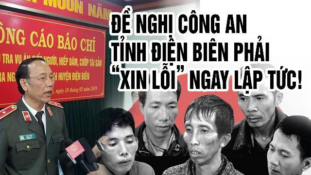 """Đề nghị Công an tỉnh Điện Biên phải """"xin lỗi"""" ngay lập tức!"""