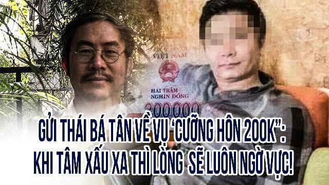 """Gửi Thái Bá Tân về vụ 'cưỡng hôn 200k"""": Khi tâm xấu xa thì lòng sẽ luôn ngờ vực!"""
