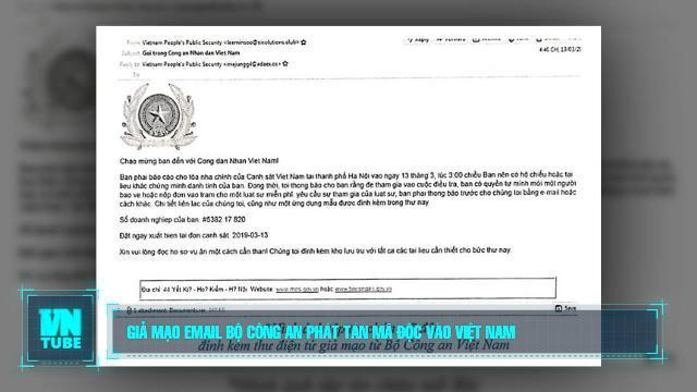 Toàn cảnh an ninh mạng số 4 tháng 03: Giả mạo email Bộ Công an phát tán mã độc vào Việt Nam