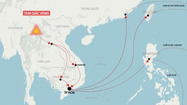 TP Hồ Chí Minh - Điểm tập kết ma tuý từ Tam Giác Vàng