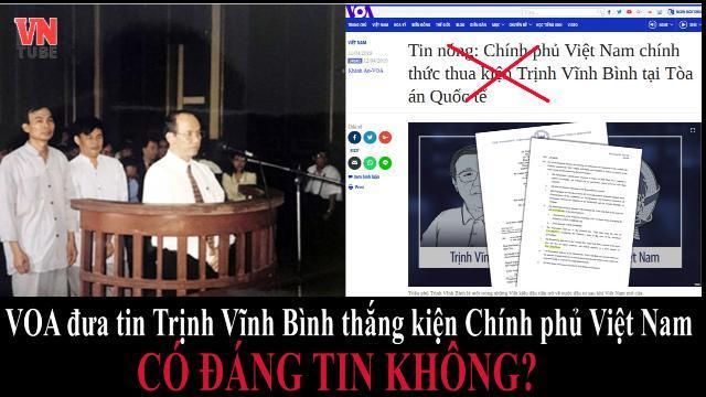 VOA đưa tin Trịnh Vĩnh Bình thắng kiện Chính phủ Việt Nam có đáng tin không?