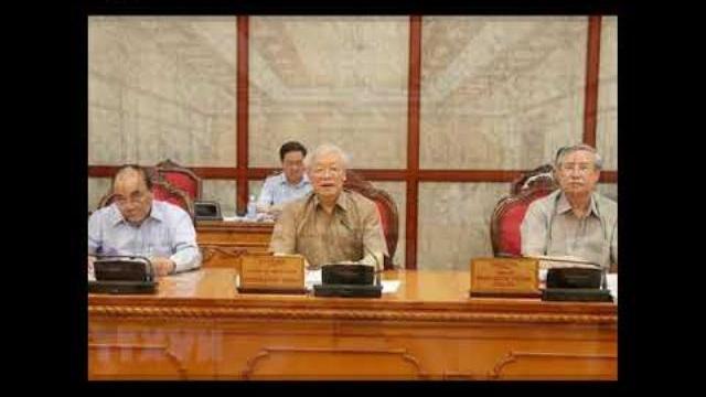 Tổng Bí thư, Chủ tịch nước Nguyễn Phú Trọng họp Bộ Chính trị bàn về công tác nhân sự