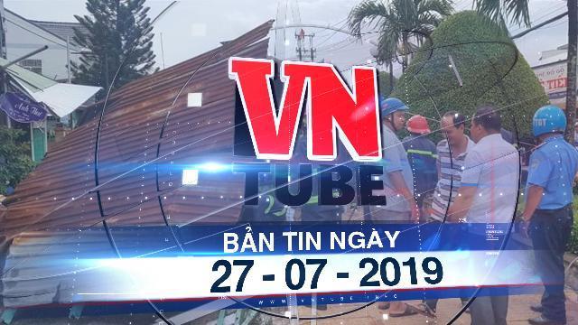 Bản tin VnTube trưa 2707:Lốc xoáy ở làm sập và tốc mái 75 căn nhà ở Cần Thơ