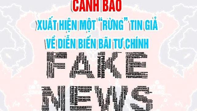 """Cảnh báo: xuất hiện một """"rừng"""" tin giả về diễn biến bãi Tư Chính"""