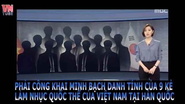 PHẢI CÔNG KHAI MINH BẠCH DANH TÍNH CỦA 9 KẺ LÀM NHỤC QUỐC THỂ CỦA VIỆT NAM TẠI HÀN QUỐC