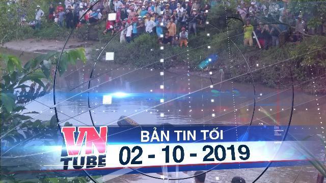 Bản tin VnTube tối 02-10-2019: Tiền Giang: Tìm thấy xe Mercedes cùng thi thể 3 nạn nhân dưới kênh