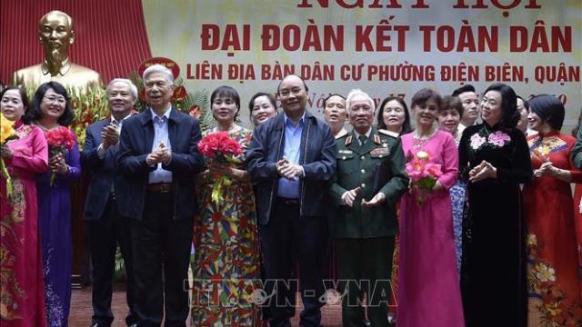 Thủ tướng dự ngày hội Đại đoàn kết toàn dân