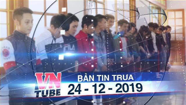 Bản tin VnTube trưa 24-12-2019: Tạm giữ hình sự 23 nghi phạm lừa đảo trúng thưởng qua điện thoại