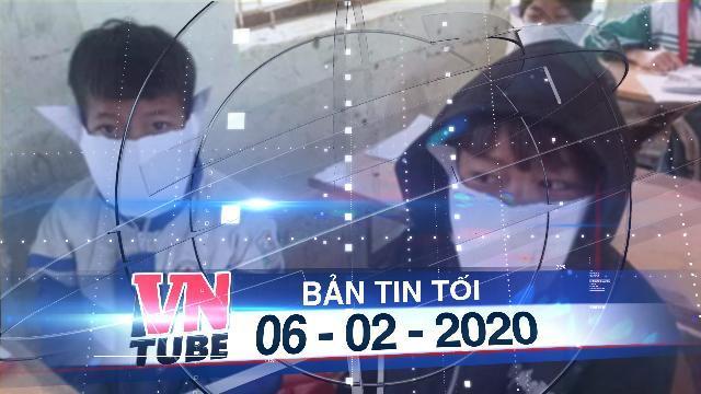 Bản tin VnTube tối 06-02-2020: Học sinh miền núi Nghệ An đeo khẩu trang. bằng giấy phòng bệnh