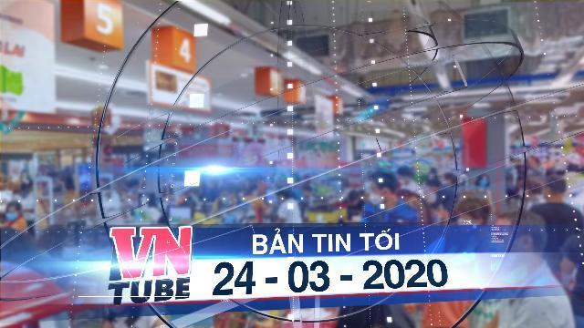 Bản tin VnTube tối 24-03-2020: Siêu thị không bán khẩu trang kháng khuẩn sẽ bị phạt nặng