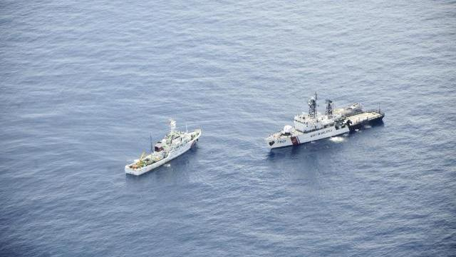 Tàu Kiểm ngư truy đuổi tàu Malaysia để giải cứu tàu cá ngư dân Việt Nam