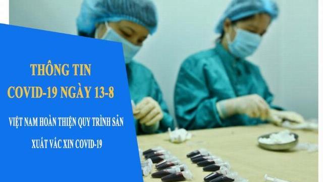 Thông tin COVID-19 ngày 13-8: Việt nam hoàn thiện quy trình sản xuất vắc xin Covid-19