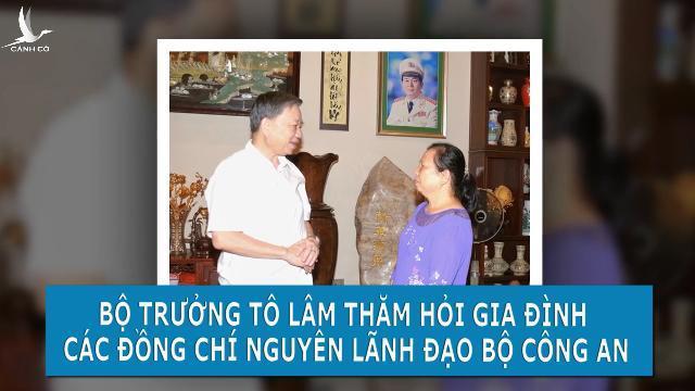 Bộ trưởng Tô Lâm thăm hỏi gia đình các đồng chí nguyên lãnh đạo Bộ Công an