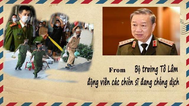 Bộ trưởng Tô Lâm gửi Thư động viên các chiến sĩ đang chống dịch