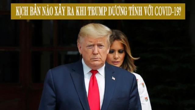 Kịch bản nào xảy ra khi Trump dương tính với Covid-19