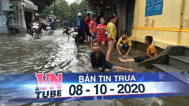 Miền Trung mưa dồn dập, nước lũ tràn vào phố cổ Hội An