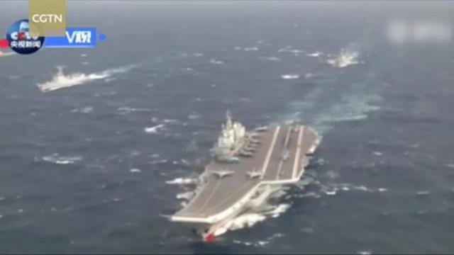 Cụm tàu sân bay chiến đấu Liêu Ninh của Trung Quốc thử vũ khí trên Biển Đông