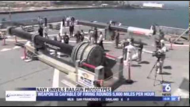 Hải quân Mỹ tung clip thử súng điện từ