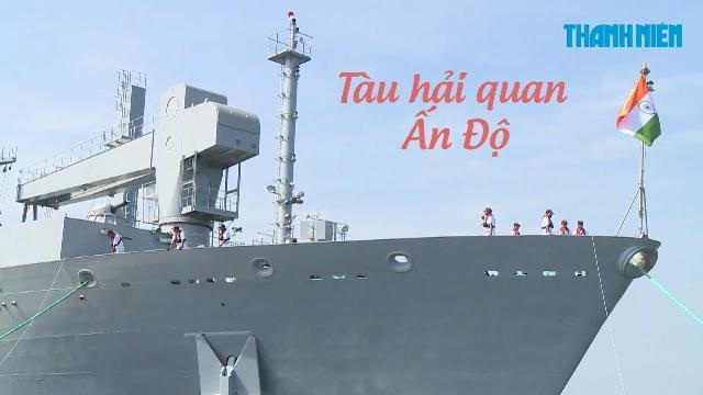 Cận cảnh 3 tàu Hải quân Ấn Độ chở gần 1.000 người thăm Đà Nẵng