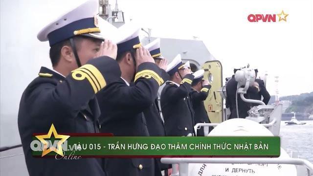 Tàu 015 - Trần Hưng Đạo thăm chính thức Nhật Bản