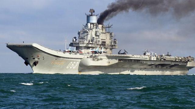 Tàu sân bay Kuznetsov của Hải quân Nga hoạt động ở chiến trường Syria.