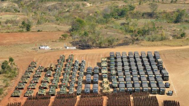 Một cuộc duyệt binh quy mô lớn của Quân đội Myanmar