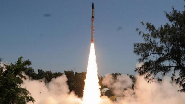 Ấn Độ phóng thử thành công tên lửa đạn đạo Agni-V ngày 18/1/2018