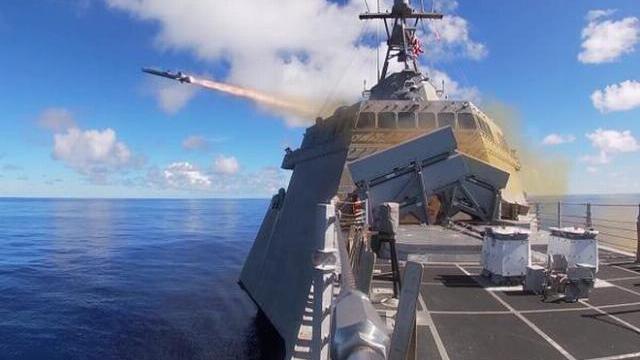 Tàu tác chiến duyên hải (LCS 10) phóng tên lửa NSM trong cuộc tập trận