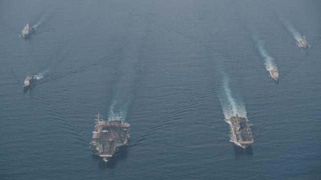 Sức mạnh tàu sân bay Mỹ triển khai tới Biển Đông