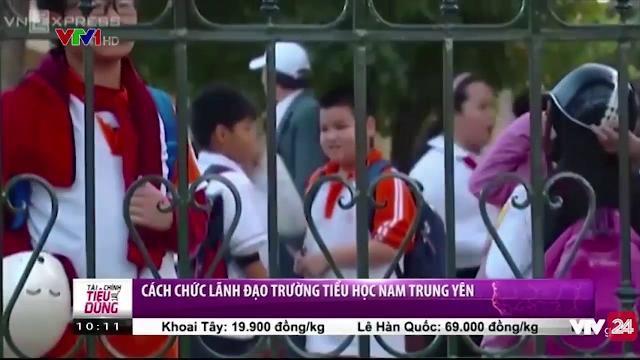 Cách chức lãnh đạo trường tiểu học Nam Trung Yên