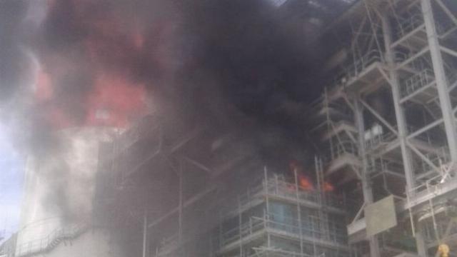 Nổ ở nhà máy Nhiệt điện Vĩnh Tân 4, hai người bị bỏng