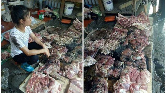 Bán thịt lợn giá rẻ bị hắt dầu luyn: Hải Phòng họp khẩn