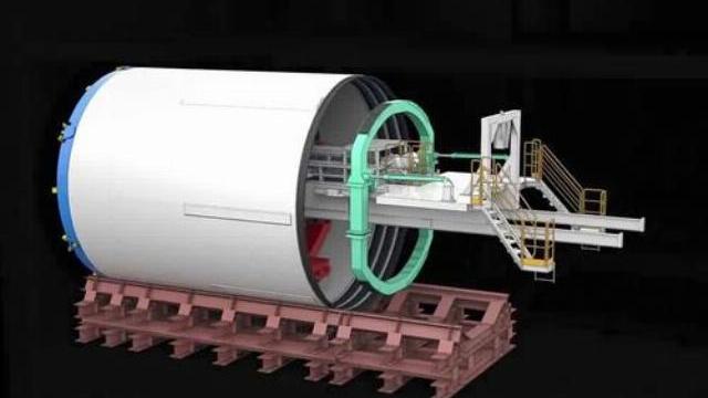 Robot 300 tấn được đưa xuống lòng đất như thế nào?