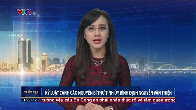 Kỷ luật cảnh cáo nguyên Bí thư tỉnh ủy Bình Định Nguyễn Văn Thiện