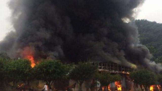 Cháy lớn tại chợ trung tâm thương mại Sài Gòn