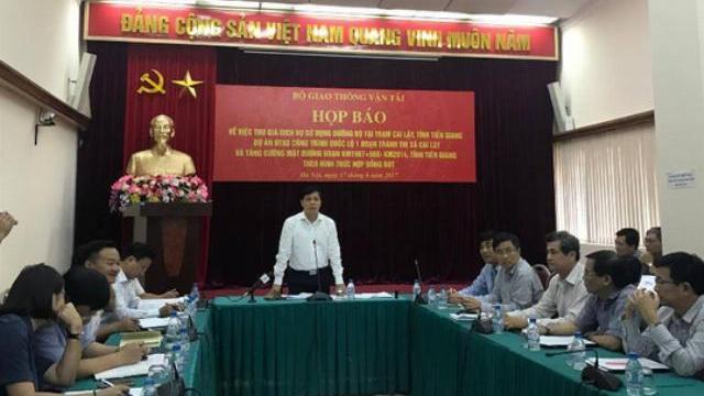 Bộ GTVT họp báo về BOT Cai Lậy, tỉnh Tiền Giang