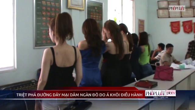 Clip Á khôi Nguyễn Thị Ngọc, người mẫu, diễn viên bán dâm cúi mặt ở trụ sở công an