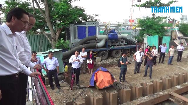 Bí thư Thành ủy TP.HCM kiểm tra siêu máy bơm chống ngập
