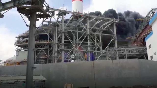 Cháy lớn ở nhà máy nhiệt điện Duyên Hải 3 ở Trà Vinh