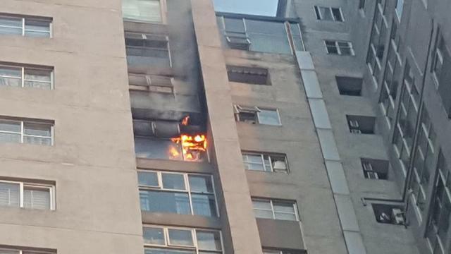 Cháy tầng 18 chung cư Bắc Hà ở Hà Đông, Hà Nội