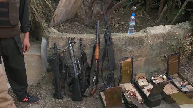 Thu giữ số lượng lớn vũ khí quân dụng tại xã Loóng Luông