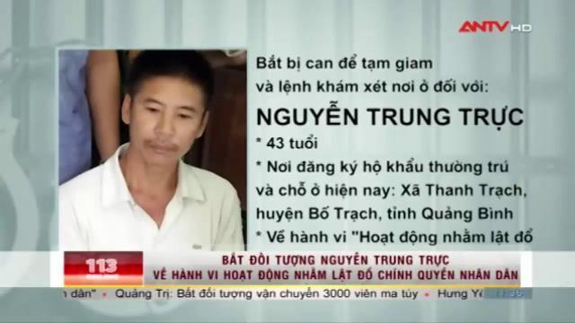 Bắt Nguyễn Trung Trực về hành vi lật đổ chính quyền | ANTV